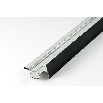 Dwarsprofiel mat zwart T24 1200 mm / st