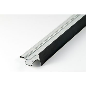 Dwarsprofiel mat zwart T24 600 mm / st