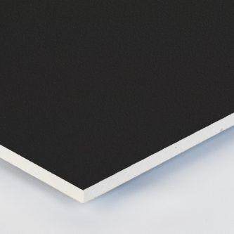 Gipsvinyl zwart 600x600x9.5 mm plafondplaat