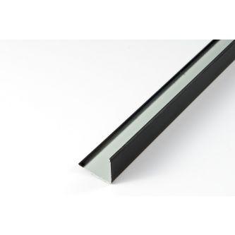 Hoeklijn mat zwart 24x24 3050 mm / st