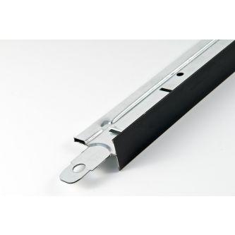 Hoofdprofiel mat zwart T24 3600 mm / st