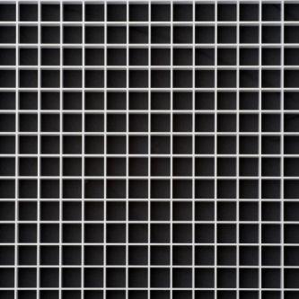 Opaal styreen rooster 600x1200x9 mm zwart / set 15 stuks