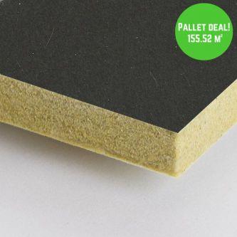 Pallet Eurocoustic Tonga Zwart 60x120 cm inleg