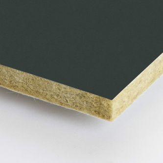 Grijze Rockfon Anthracite 600x1500x25 mm inleg plafondplaten