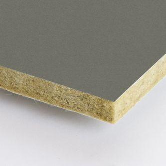 Grijze Rockfon Clay 600x2100x25 mm inleg plafondplaten