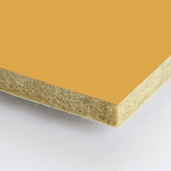 Gele Rockfon Mustard 600x1800x25 mm inleg plafondplaten