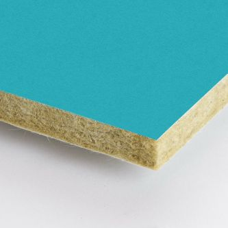 Blauwe Rockfon Curacao 600x1200x25 mm inleg plafondplaten