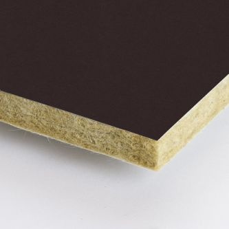 Bruine Rockfon Humus 600x1200x25 mm inleg plafondplaten