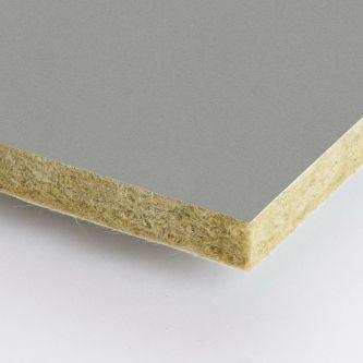 Grijze Rockfon Mastic 1200x1200x25 mm inleg plafondplaten