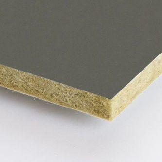 Bruine Rockfon Tarmac 600x1500x25 mm inleg plafondplaten