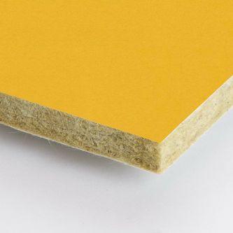 Gele Rockfon Vitamin 1200x1200x25 mm inleg plafondplaten