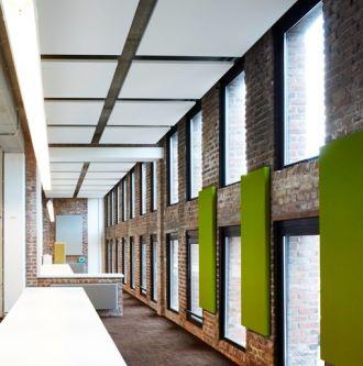 BASIC plafondeiland wit met geanodiseerd (alu) kader 1200x1200x35 mm inclusief ophanging