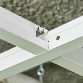 CMC corrosiebestendig hoofdprofiel wit 3600 mm / st