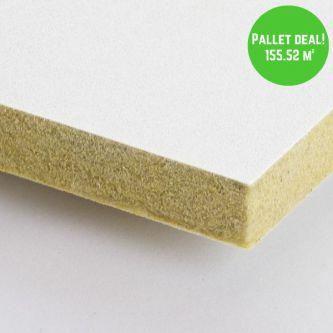 Pallet Eurocoustic Tonga Wit 600x600 mm inleg