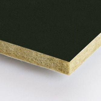 Zwarte Rockfon Charcoal 600x2100x25 mm inleg plafondplaten