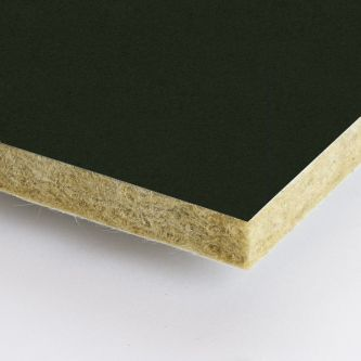 Zwarte Rockfon Charcoal 600x1200x25 mm inleg plafondplaten