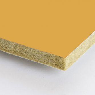 Gele Rockfon Mustard 600x600x25 mm inleg plafondplaten