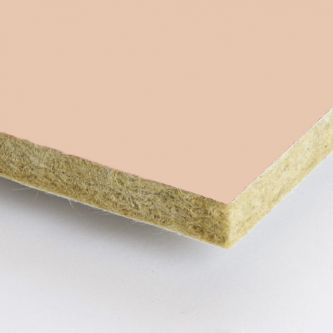 Pastel roze Rockfon Seashell 600x1500x25 mm inleg plafondplaten