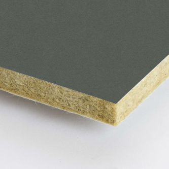 Grijze Rockfon Concrete 600x1200 mm inleg plafondplaten