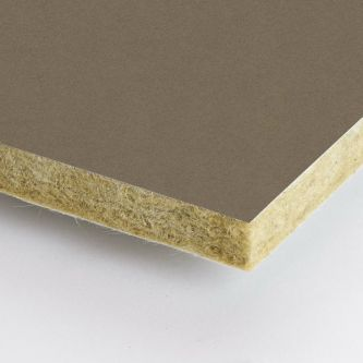 Bruine Rockfon Earth 600x1500x25 mm inleg plafondplaten