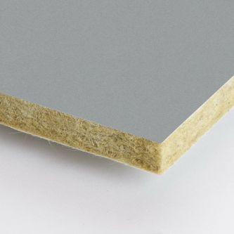 Grijze Rockfon Zinc 05 600x1200x25 mm inleg plafondplaten
