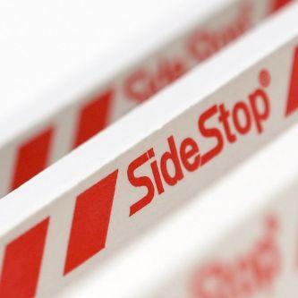 SideStop® brandwerende kantlat wit 2450x18x38 mm (10st/bs)