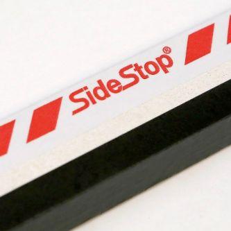 SideStop brandwerende kantlat zwart 2450x18x38 mm (10st/bs)