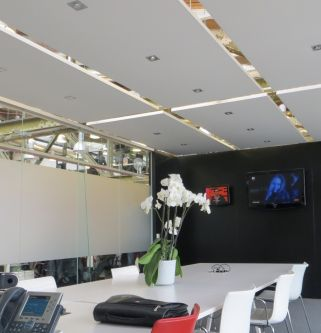 BASIC plafondeiland wit met wit kader 1200x1800x35 mm inclusief ophanging