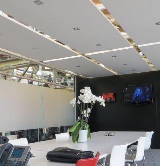 BASIC plafondeiland wit met geanodiseerd (alu) kader 1200x1800x35 mm inclusief ophanging